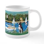 Boston Terrier Sailboats 20 oz Ceramic Mega Mug