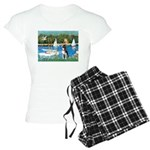 Boston Terrier Sailboats Women's Light Pajamas