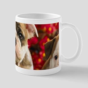 Cute English Bulldog Puppy Mugs