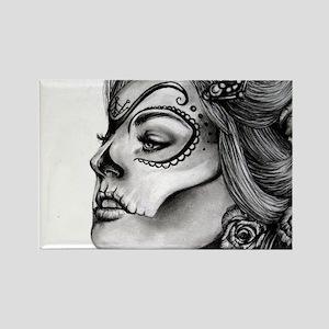 Dia De Los Muertos Drawing Magnets