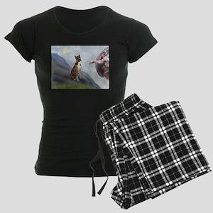 MP-Creation-Boxer5-Brindle Women's Dark Pajama
