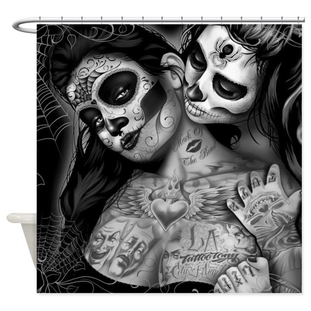 Dia De Los Muertos Shower Curtain By WickedDesigns4