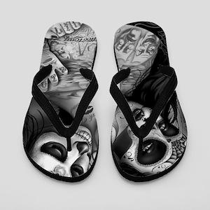 Dia De Los Muertos Flip Flops