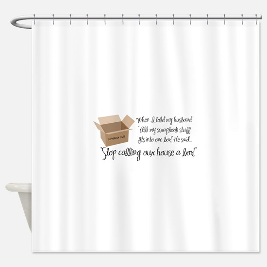 Scrapbook Box Shower Curtain