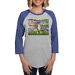 TILE-Lilies2-Boxer2-Nat Womens Baseball Tee