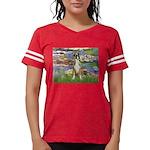 TILE-Lilies2-Boxer2-Nat Womens Football Shirt