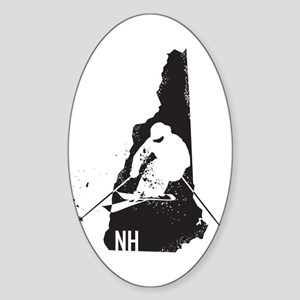 Ski New Hampshire Sticker (Oval)