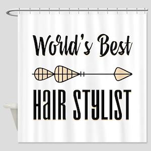 World's Best Hair Stylist Shower Curtain