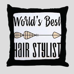 World's Best Hair Stylist Throw Pillow