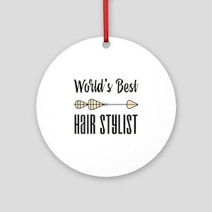 World's Best Hair Stylist Round Ornament