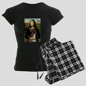 TILE-Mona-Boxer5-Brindle Women's Dark Pajamas