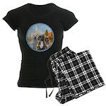2-Regatta - 3 Boxers Women's Dark Pajamas