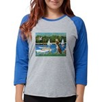 3-Sailboats-Boxer5-Brindle Womens Baseball Tee