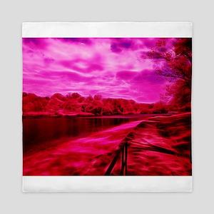 Infrared River Banks Queen Duvet