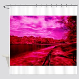 Infrared River Banks Shower Curtain