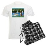 3-Sailboats-Boxer5-Brindle Men's Light Pajamas