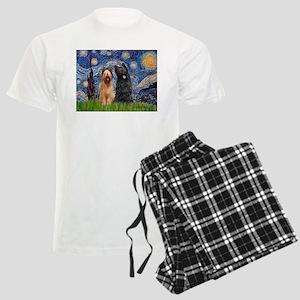 5.5x7.5-Starry-Briardpair Men's Light Pajamas