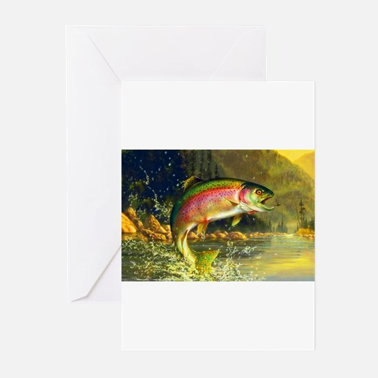 Funny Fly fishing Greeting Cards (Pk of 20)