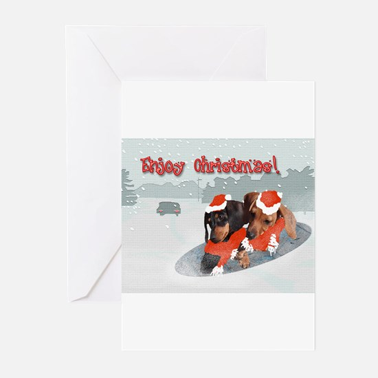 Funny Doxxie Greeting Cards (Pk of 20)