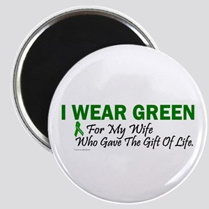 Green For Wife Organ Donor Donation Magnet