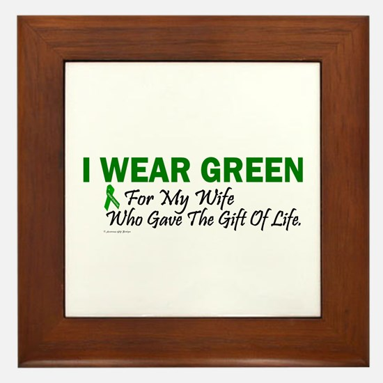 Green For Wife Organ Donor Donation Framed Tile