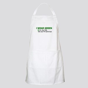 Green For Wife Organ Donor Donation Apron