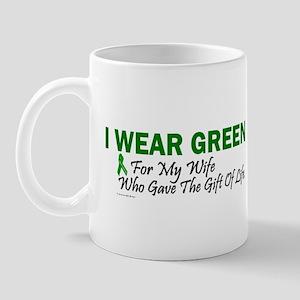 Green For Wife Organ Donor Donation Mug