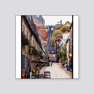 "Old Quebec, Rue Sous Le For Square Sticker 3"" x 3"""