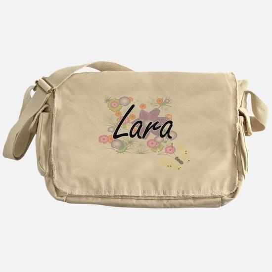 Lara surname artistic design with Fl Messenger Bag