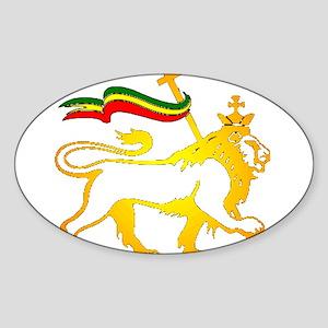 KING OF KINGZ LION Oval Sticker