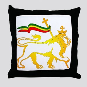 KING OF KINGZ LION Throw Pillow