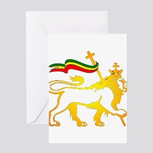Rasta greeting cards cafepress king of kingz lion greeting card m4hsunfo