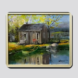 Cabin by the Lake Mousepad