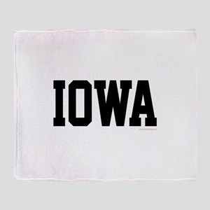Iowa Jersey Font Throw Blanket