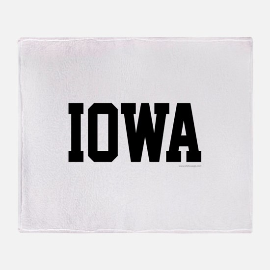 Iowa Jersey Font Throw Blanket