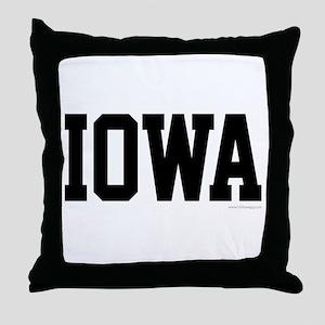 Iowa Jersey Font Throw Pillow