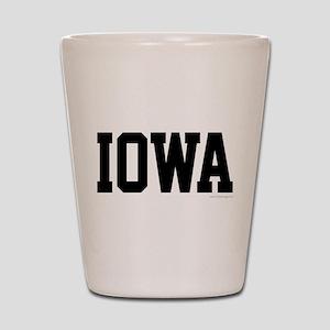 Iowa Jersey Font Shot Glass