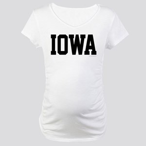 Iowa Jersey Font Maternity T-Shirt