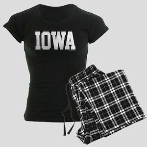 Iowa Jersey Font Women's Dark Pajamas