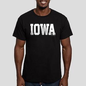 Iowa Jersey Font Men's Fitted T-Shirt (dark)