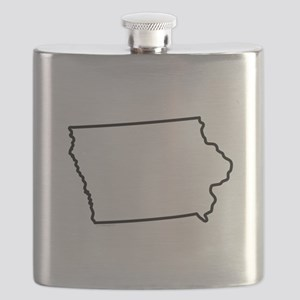 Iowa State Outline Flask