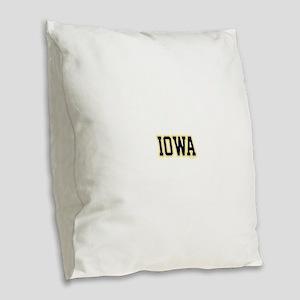 Iowa Burlap Throw Pillow