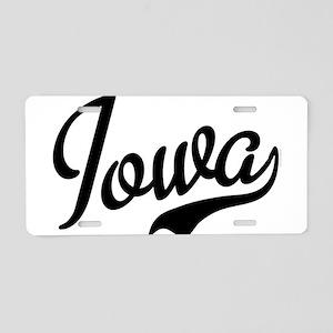 Iowa Script Font Aluminum License Plate