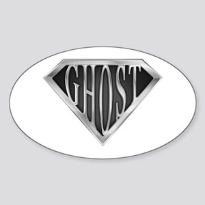 SuperGhost(metal) Oval Sticker