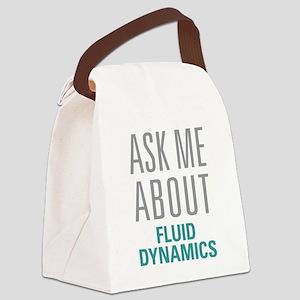 Fluid Dynamics Canvas Lunch Bag
