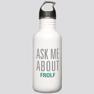Ask Me About Frolf Stainless Water Bottle 1.0L