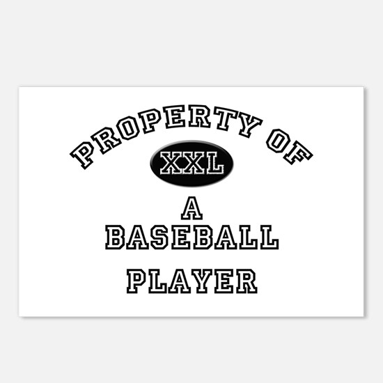 Property of a Baseball Player Postcards (Package o