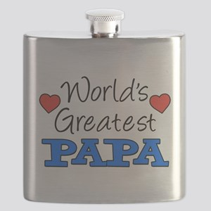 World's Greatest Papa Drinkware Flask