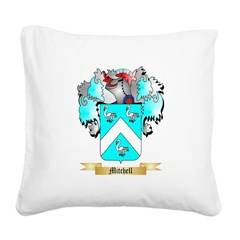 Mitchell English Square Canvas Pillow