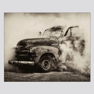 Burnout Pit Truck Small Poster